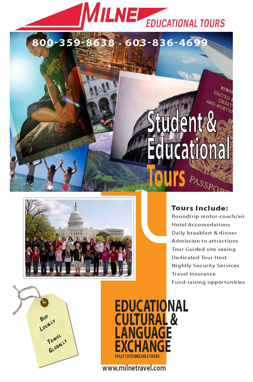 student exchange program and educational tours